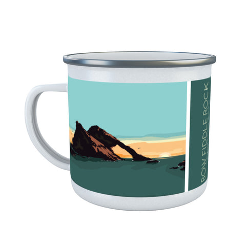 Bow Fiddle Rock, Moray, Scotland Enamel Mug