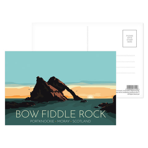 Bow Fiddle Rock, Moray, Scotland Postcard Pack