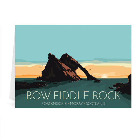 Bow Fiddle Rock, Moray, Scotland Greeting Card 7x5