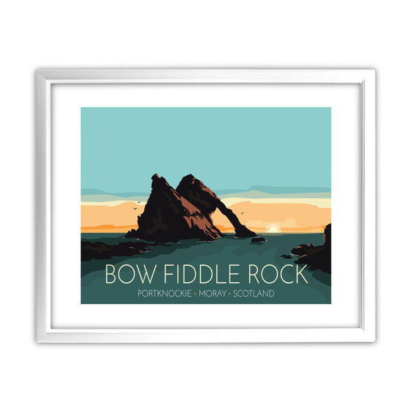 Bow Fiddle Rock, Moray, Scotland 11x14 Framed Print (White)