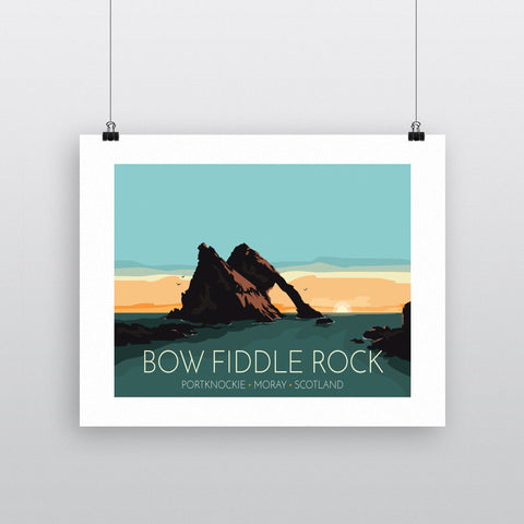 Bow Fiddle Rock, Moray, Scotland 90x120cm Fine Art Print