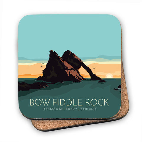 Bow Fiddle Rock, Moray, Scotland MDF Coaster