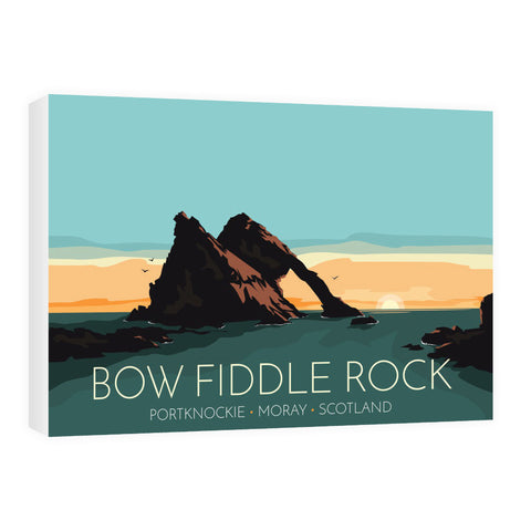 Bow Fiddle Rock, Moray, Scotland 60cm x 80cm Canvas