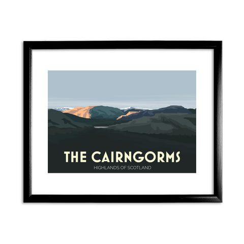The Cairngorms, Highlands of Scotland 11x14 Framed Print (Black)