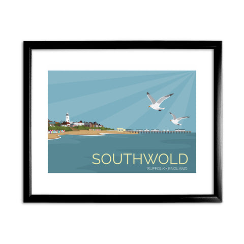 Southwold, Suffolk 11x14 Framed Print (Black)