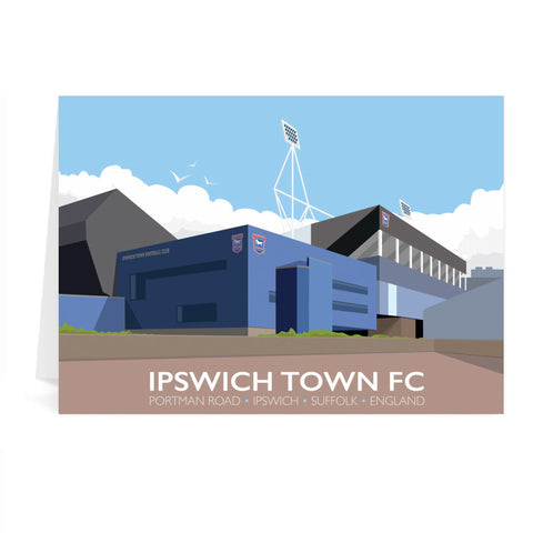Portman Road, Ipswich Greeting Card 7x5