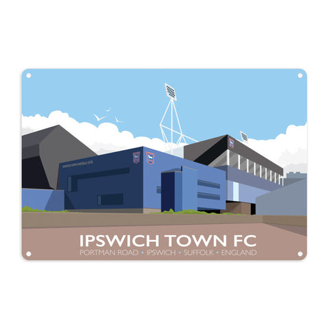 Portman Road, Ipswich Metal Sign