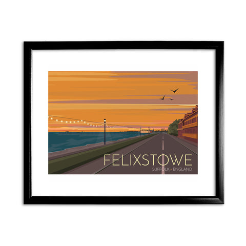 Felixstowe, Suffolk 11x14 Framed Print (Black)