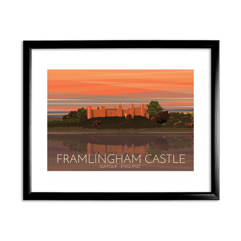 Framlingham Castle, Suffolk 11x14 Framed Print (Black)