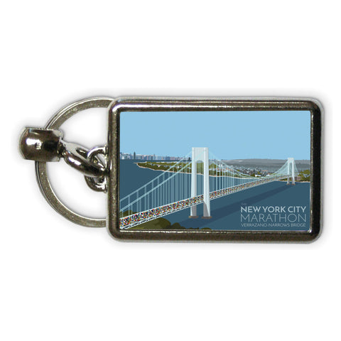 New York, USA Metal Keyring