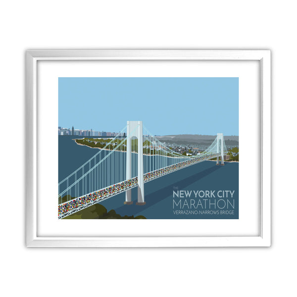 New York, USA 11x14 Framed Print (White)