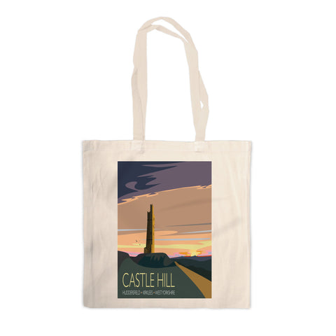 Castle Hill, Huddersfield, Yorkshire Canvas Tote Bag