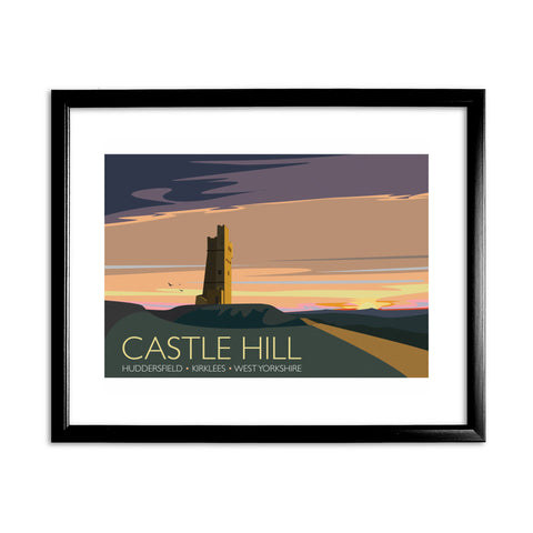 Castle Hill, Huddersfield, Yorkshire 11x14 Framed Print (Black)