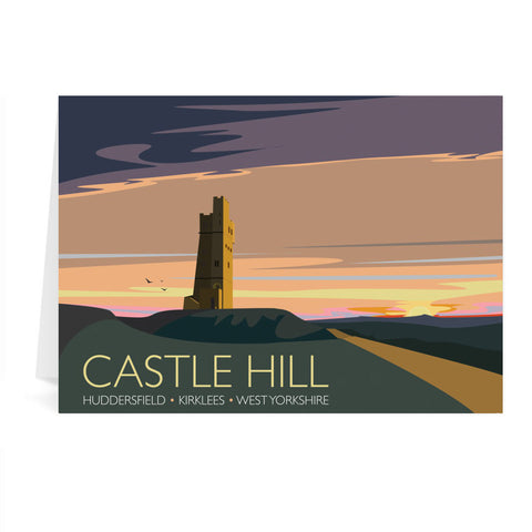 Castle Hill, Huddersfield, Yorkshire Greeting Card 7x5