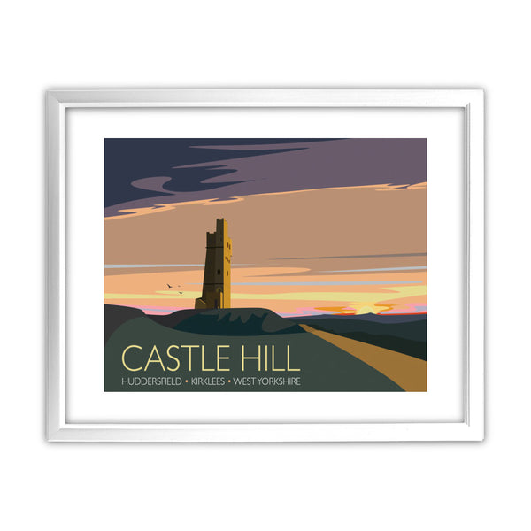 Castle Hill, Huddersfield, Yorkshire 11x14 Framed Print (White)
