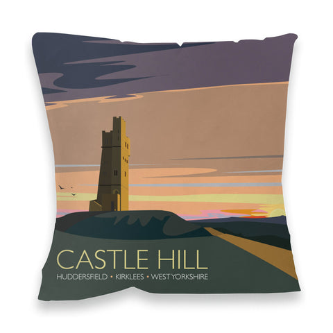 Castle Hill, Huddersfield, Yorkshire Fibre Filled Cushion