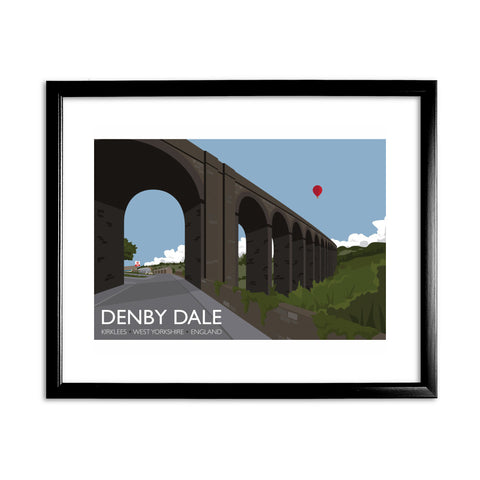 Denby Dale, Kirlees, Yorkshire 11x14 Framed Print (Black)