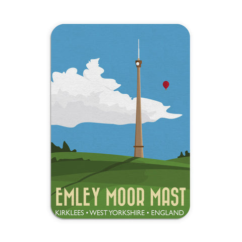 The Emley Moor Mast, Kirklees, Yorkshire Mouse Mat