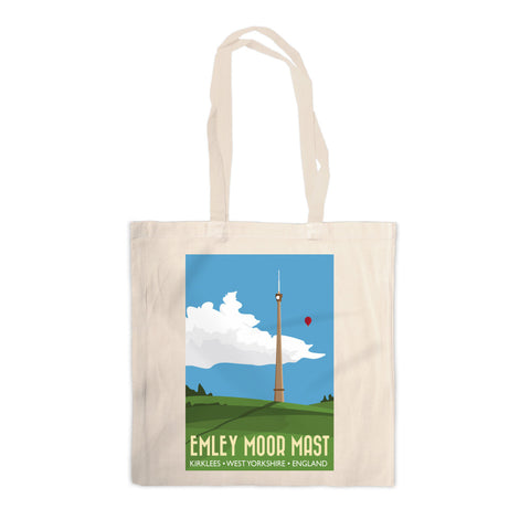 The Emley Moor Mast, Kirklees, Yorkshire Canvas Tote Bag