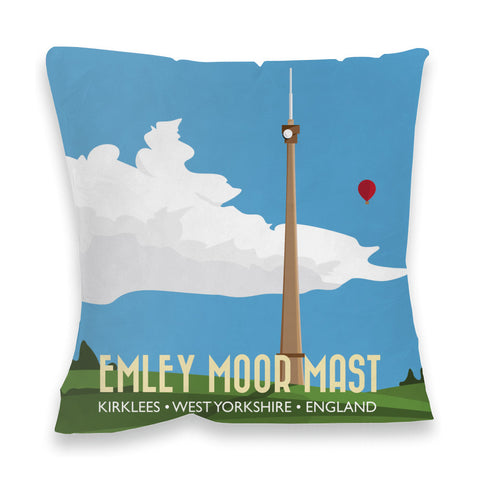 The Emley Moor Mast, Kirklees, Yorkshire Fibre Filled Cushion