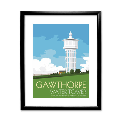 The Gawthorpe Water Tower, Wakefield, Yorkshire 11x14 Framed Print (Black)