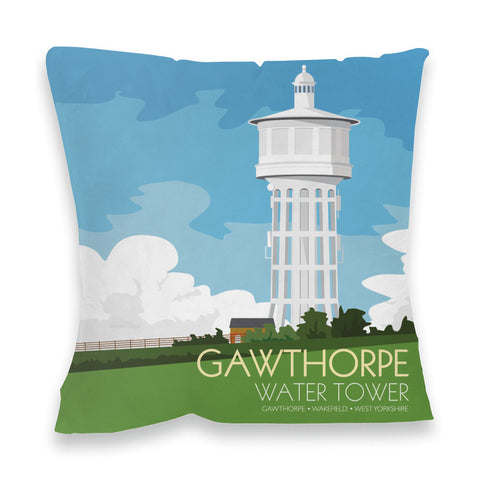 The Gawthorpe Water Tower, Wakefield, Yorkshire Fibre Filled Cushion