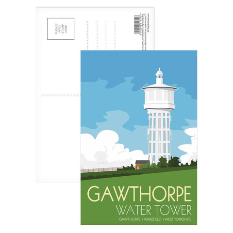 The Gawthorpe Water Tower, Wakefield, Yorkshire Postcard Pack