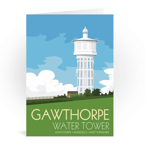 The Gawthorpe Water Tower, Wakefield, Yorkshire Greeting Card 7x5