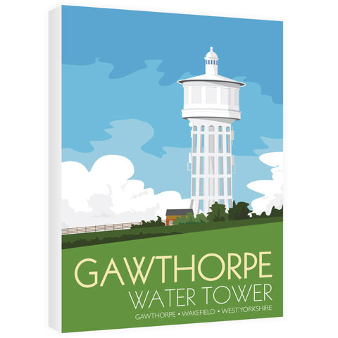 The Gawthorpe Water Tower, Wakefield, Yorkshire 60cm x 80cm Canvas