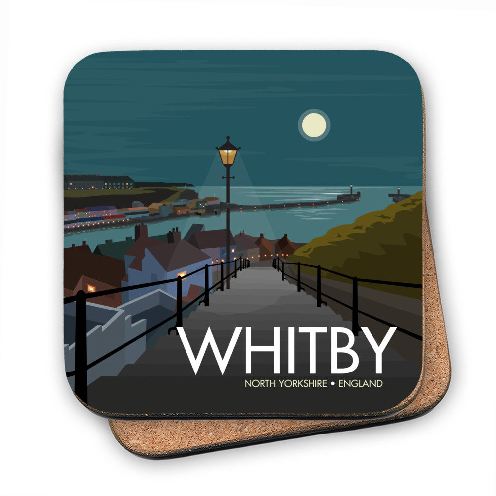 Whitby, Yorkshire MDF Coaster
