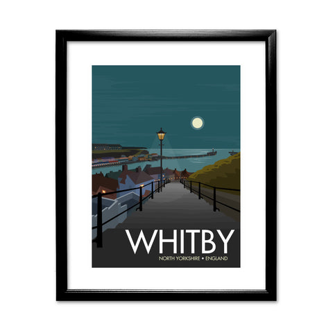 Whitby, Yorkshire 11x14 Framed Print (Black)