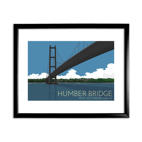 The Humber Bridge, Yorkshire 11x14 Framed Print (Black)