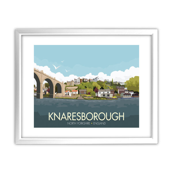 Knaresborough, Yorkshire 11x14 Framed Print (White)