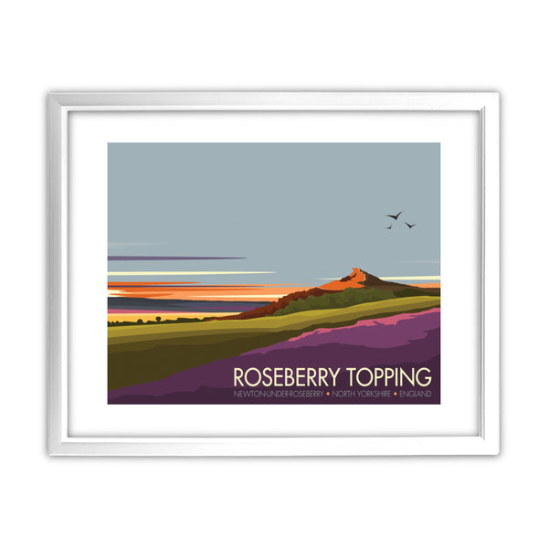 Roseberry Topping, Yorkshire 11x14 Framed Print (White)