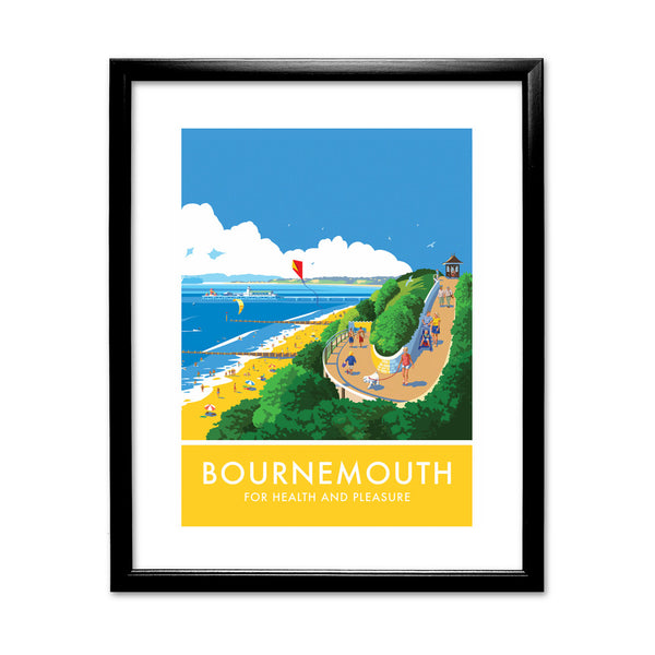 Bournemouth, Dorset 11x14 Framed Print (Black)