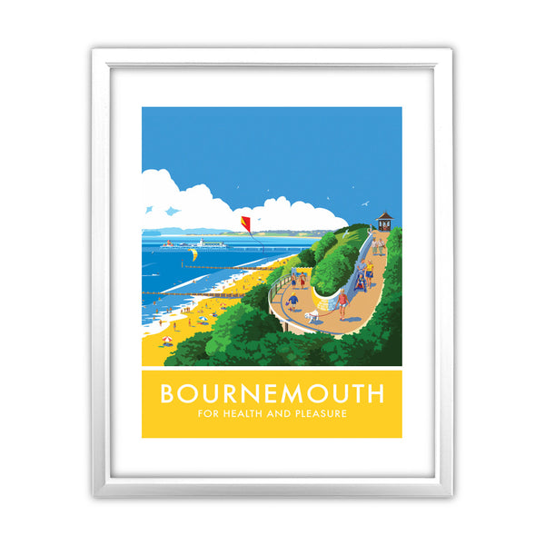 Bournemouth, Dorset 11x14 Framed Print (White)