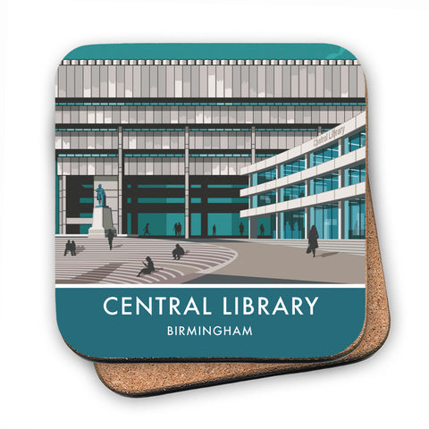 Central Library, Birmingham, West Midlands MDF Coaster