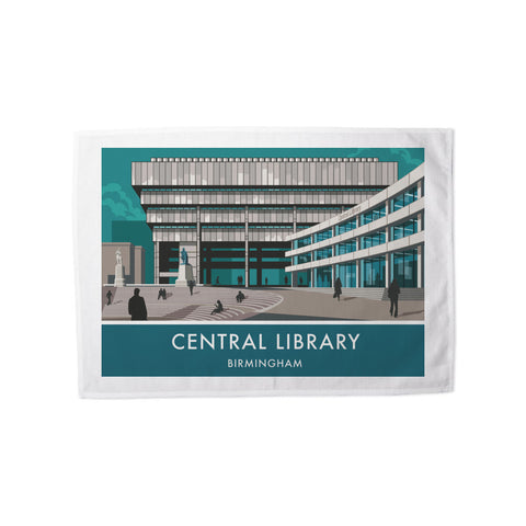Central Library, Birmingham, West Midlands Tea Towel