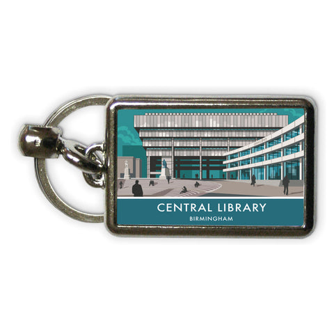 Central Library, Birmingham, West Midlands Metal Keyring