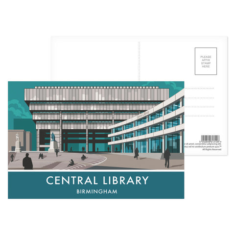 Central Library, Birmingham, West Midlands Postcard Pack