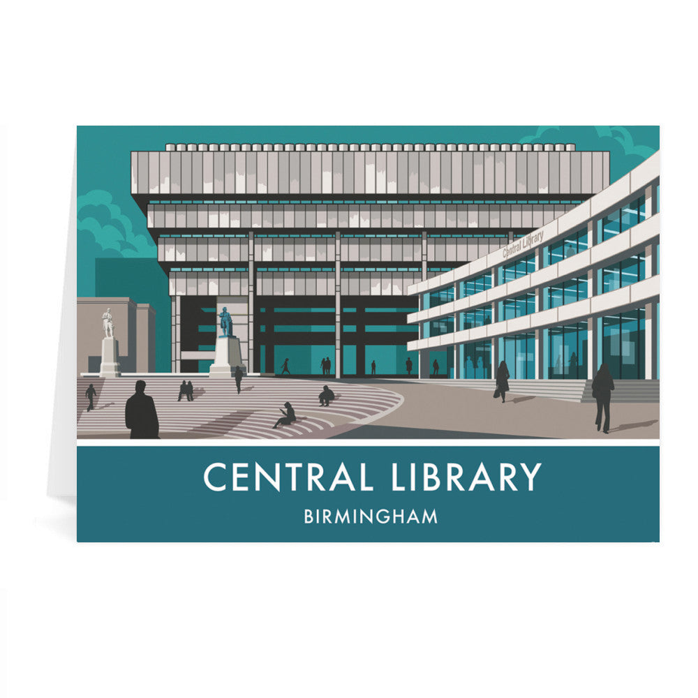 Central Library, Birmingham, West Midlands Greeting Card 7x5