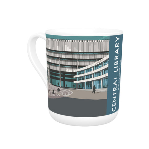 Central Library, Birmingham, West Midlands Bone China Mug