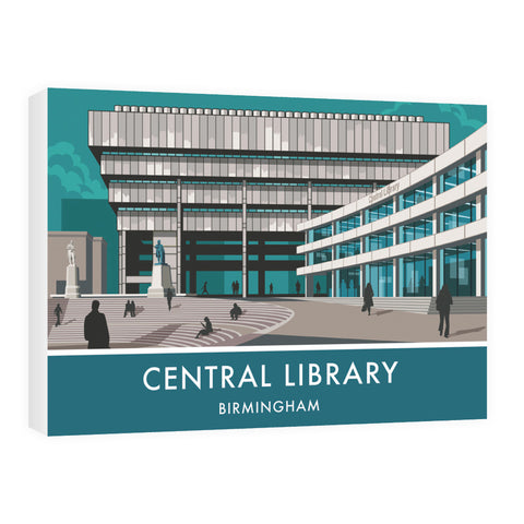 Central Library, Birmingham, West Midlands 60cm x 80cm Canvas