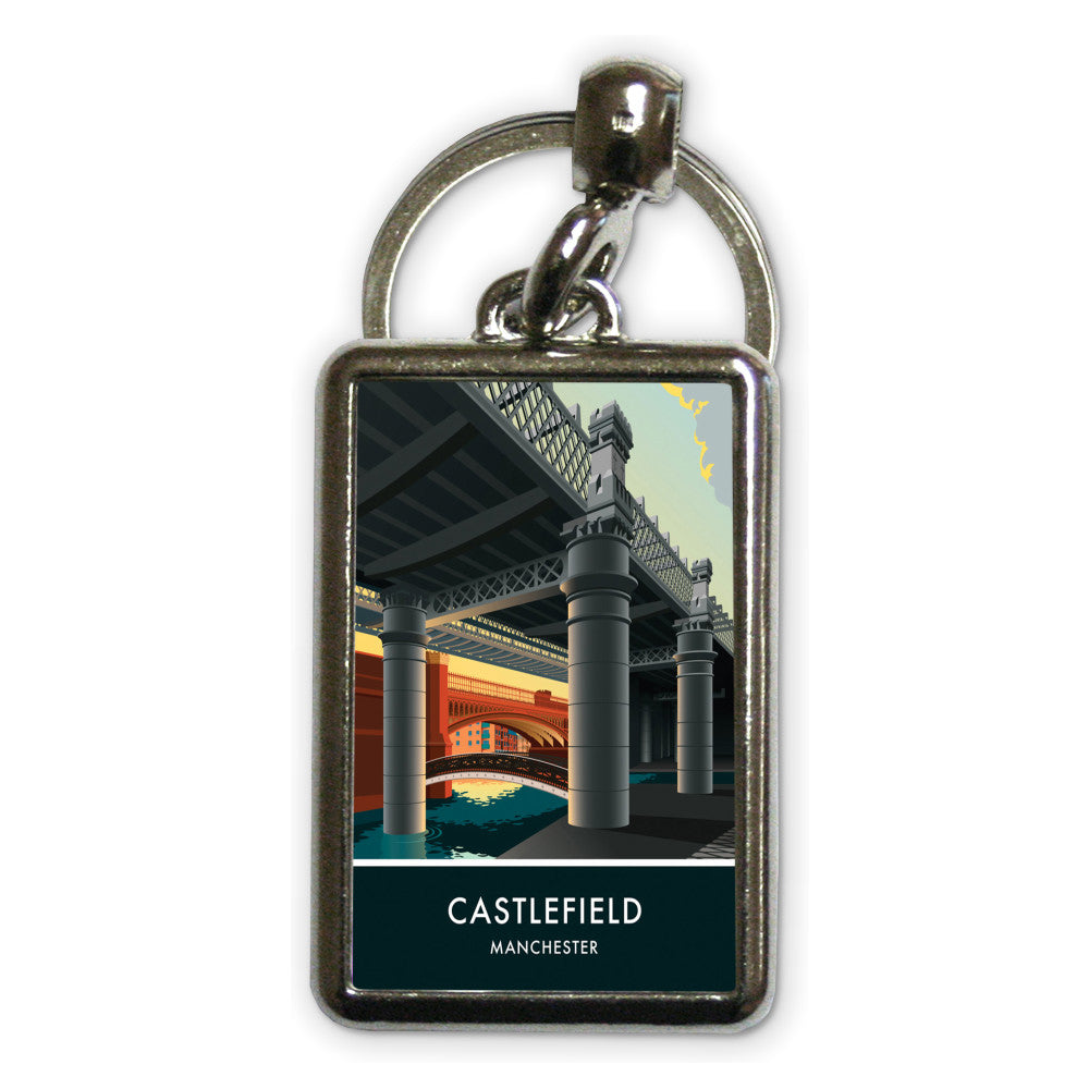 Castlefield, Manchester, Cheshire Metal Keyring
