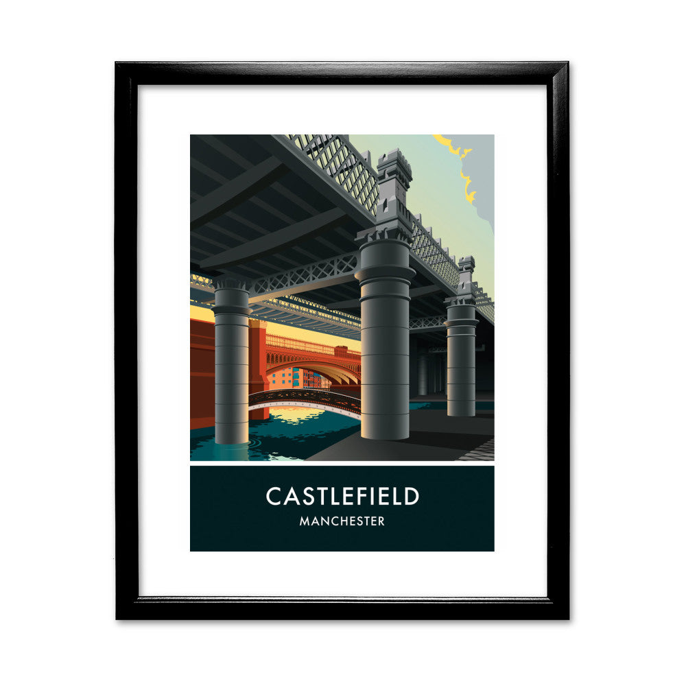 Castlefield, Manchester, Cheshire 11x14 Framed Print (Black)