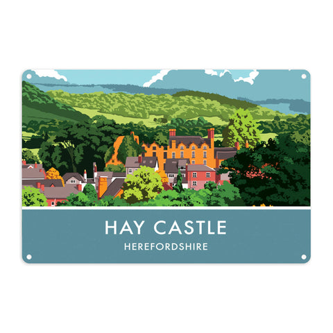 Hay Castle, Herefordshire Metal Sign