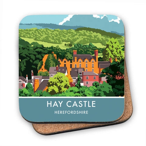 Hay Castle, Herefordshire MDF Coaster