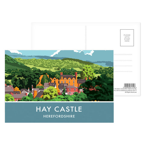 Hay Castle, Herefordshire Postcard Pack