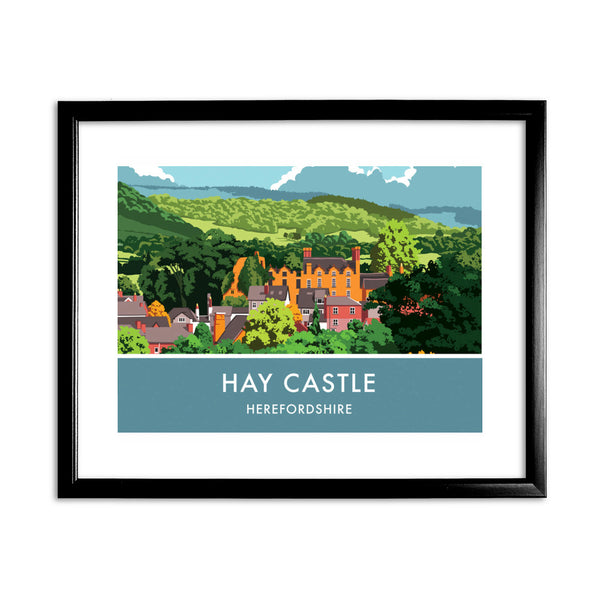 Hay Castle, Herefordshire 11x14 Framed Print (Black)