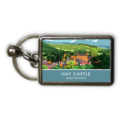 Hay Castle, Herefordshire Metal Keyring